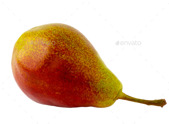 red-green pear cultivar forelle - Stock Photo - Images