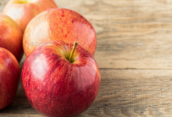 juicy red apples - Stock Photo - Images