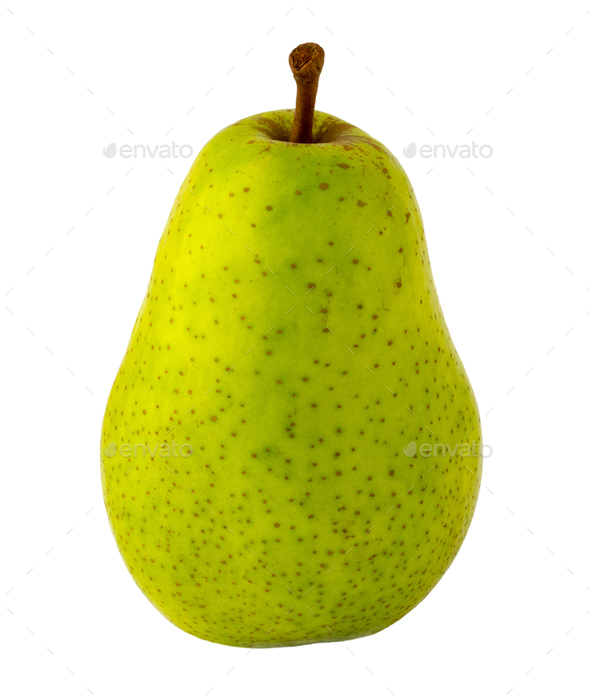 green pear, isolated image on a white - Stock Photo - Images