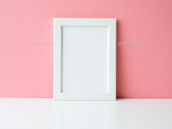 Blank white frame - Stock Photo - Images