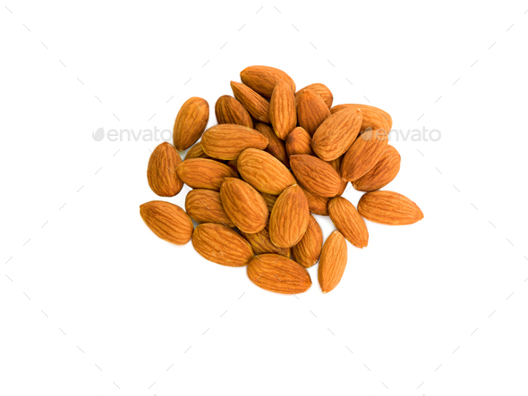 peanuts almond peeled, isolated - Stock Photo - Images