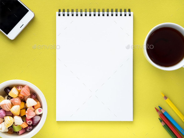 Open notepad on the spiral - Stock Photo - Images