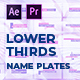 Name Plates Lower Thirds | MOGRT - VideoHive Item for Sale