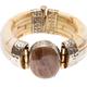travertine stone insert in camel bone bracelet - PhotoDune Item for Sale