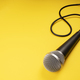 Microphone on yellow background - PhotoDune Item for Sale