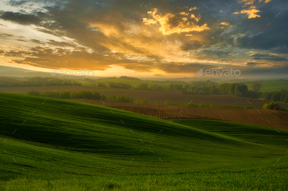 A beautiful landscape of the hills - Stock Photo - Images
