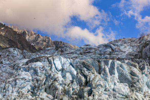 Argentiere Glacier in Chamonix Alps, France - Stock Photo - Images