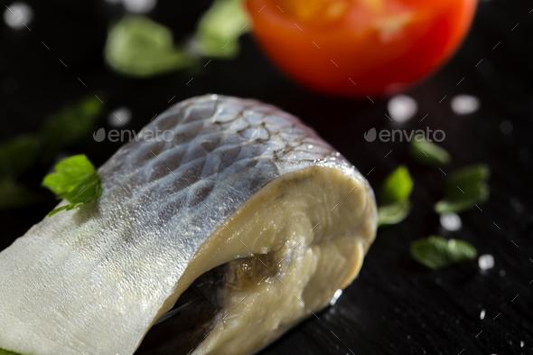 marinated herring fish - Stock Photo - Images