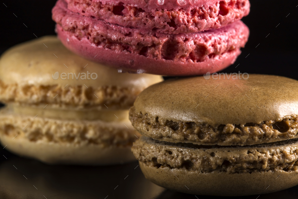 colored sweet macaroons - Stock Photo - Images
