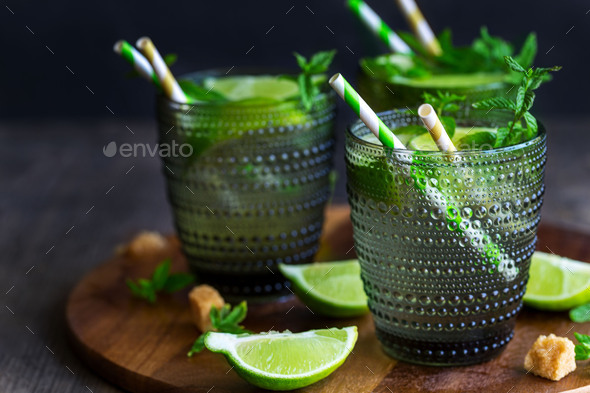 Mojito cocktail background - Stock Photo - Images