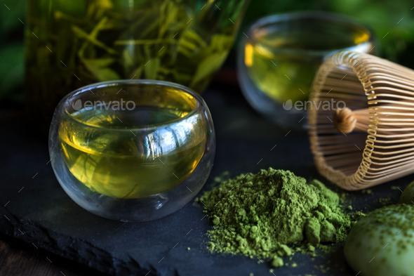 Japanese tea - Stock Photo - Images