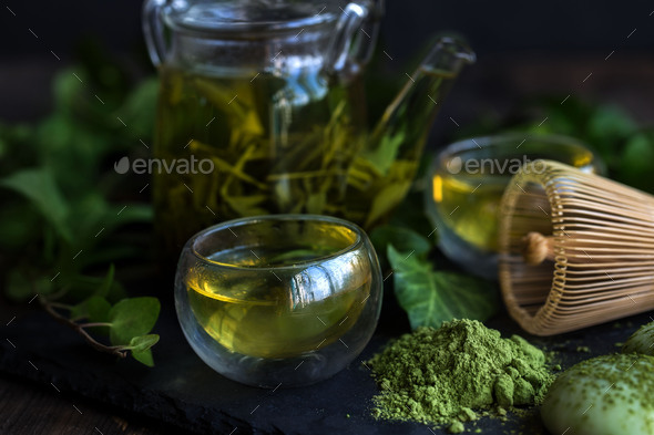 Japanese tea - Stock Photo - Images