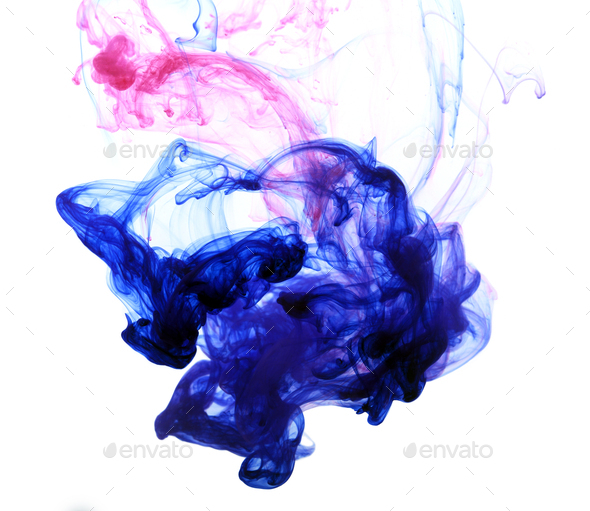 Abstract composition of mixed ink - Stock Photo - Images