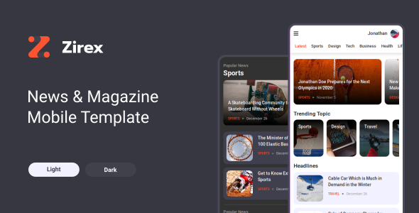 Zirex - News & Magazine Mobile Template by aStylers