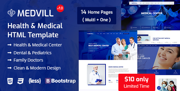 Medvill - Medical HTML Template