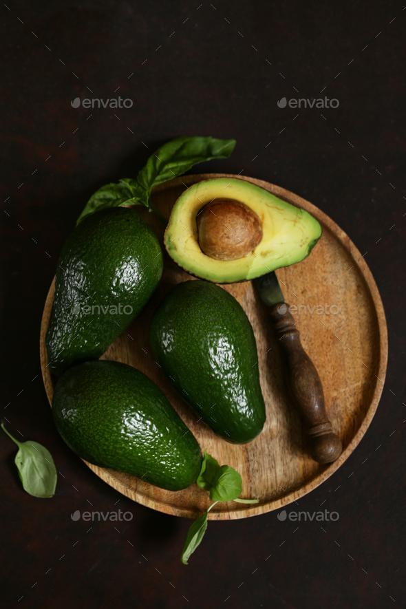 Natural Organic Avocado - Stock Photo - Images