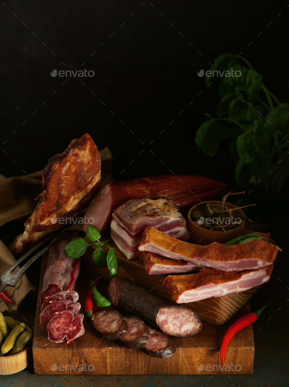 Smoked Meat Sausage - Stock Photo - Images