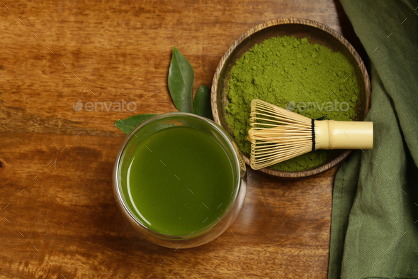 Matcha Green Tea Powder - Stock Photo - Images