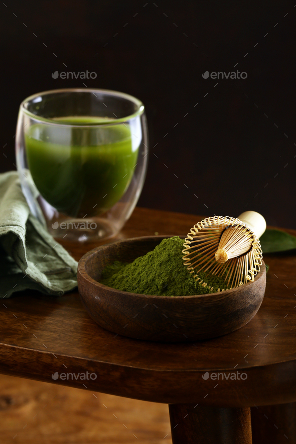 Matcha Green Tea Powder - Stock Photo - Images