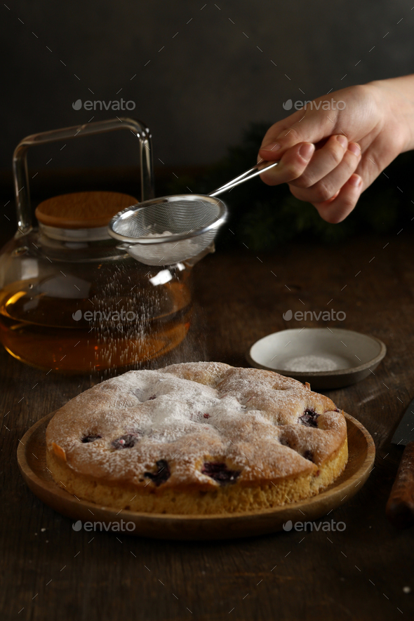Homemade Berry Cake - Stock Photo - Images