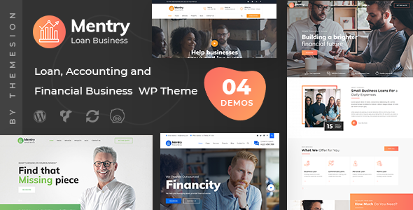 Mentry - Loan and Financial WordPress Theme by themesion
