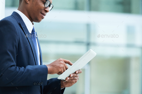 Checking documents online - Stock Photo - Images