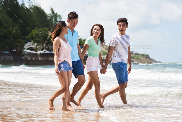 Friends on the beach - Stock Photo - Images