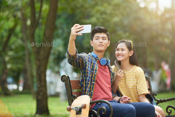 Taking selfie - Stock Photo - Images