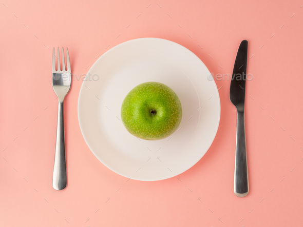 Ripe raw juicy green Apple - Stock Photo - Images