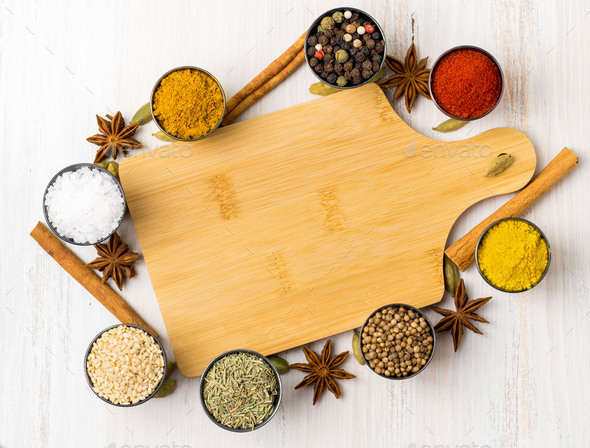 Various Indian spices - Stock Photo - Images