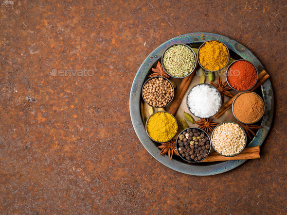 Mix spices - Stock Photo - Images