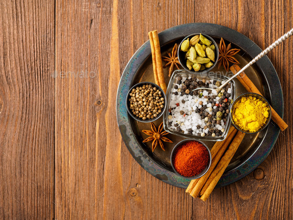 Oriental spice set - Stock Photo - Images