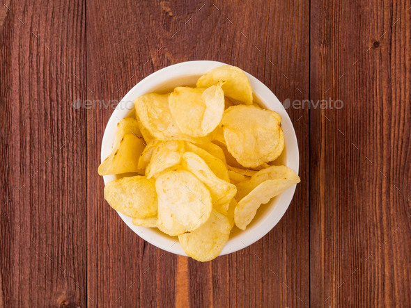 brown yellow chips - Stock Photo - Images