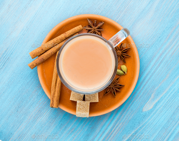Masala Indian drink - Stock Photo - Images