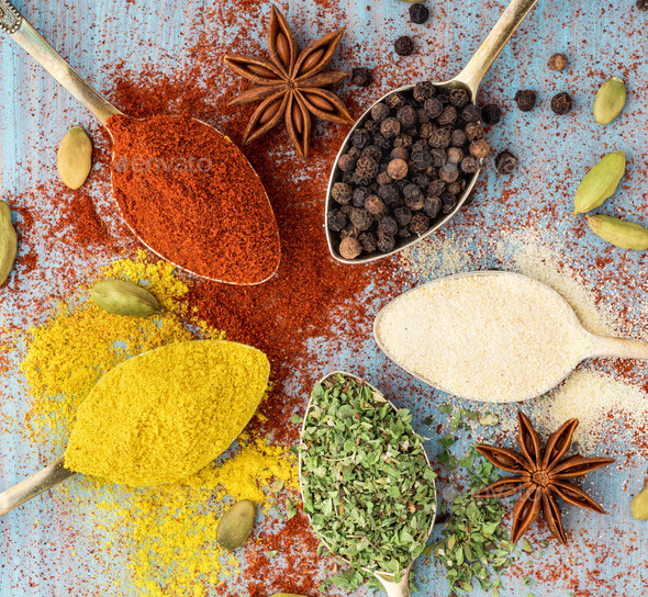 Milled spices - Stock Photo - Images