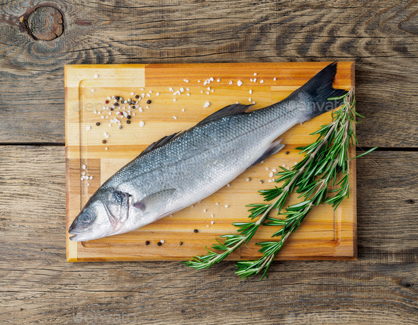 fresh, raw, saltwater fish - Stock Photo - Images