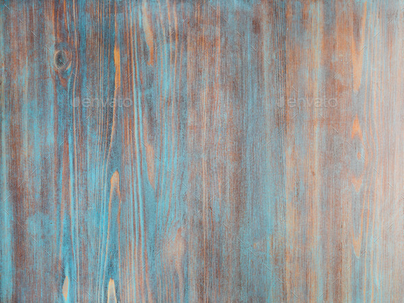 painted in blue, dark blue, light wooden background - Stock Photo - Images