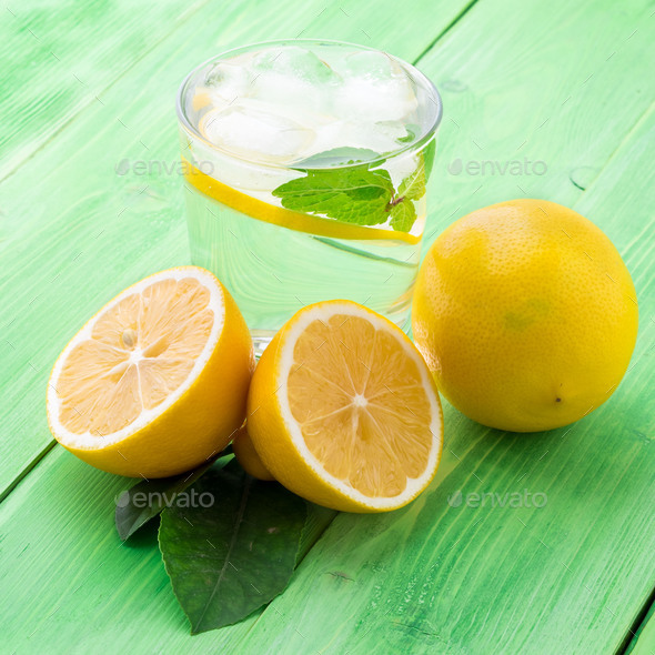 Lemonade in a glass - Stock Photo - Images