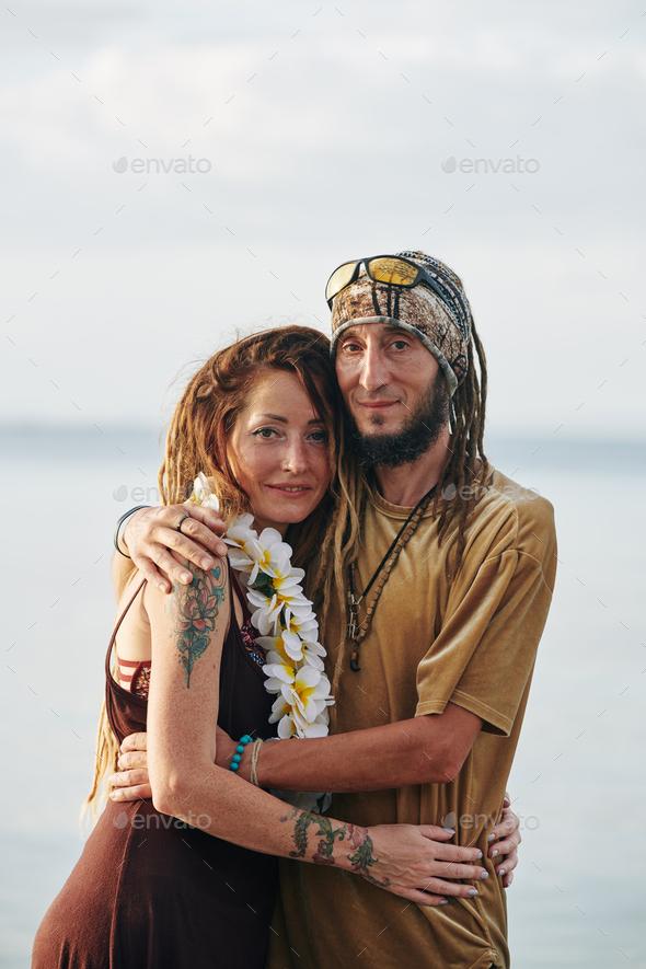 Loving embracing couple - Stock Photo - Images