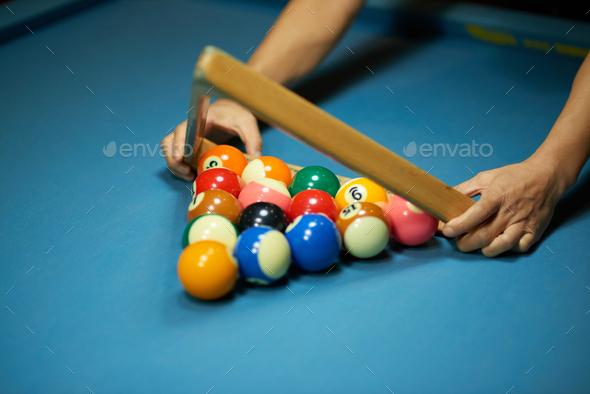 Racking up balls - Stock Photo - Images