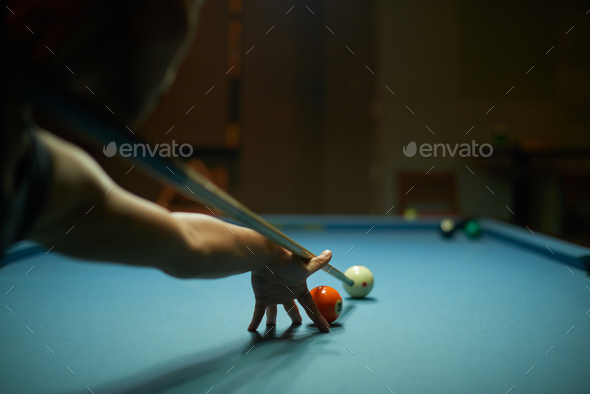 Almost ready to hit the ball - Stock Photo - Images