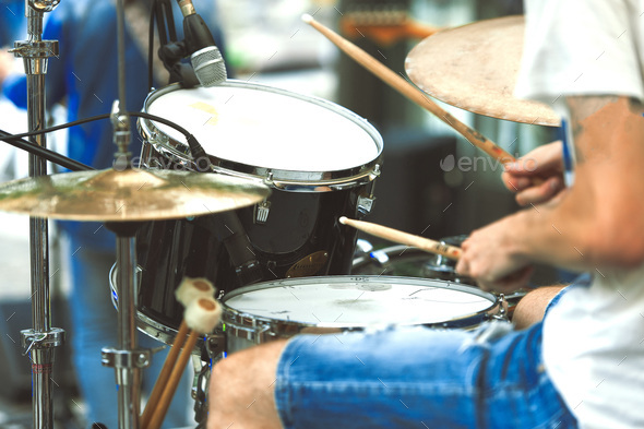 Drummer detail - Stock Photo - Images