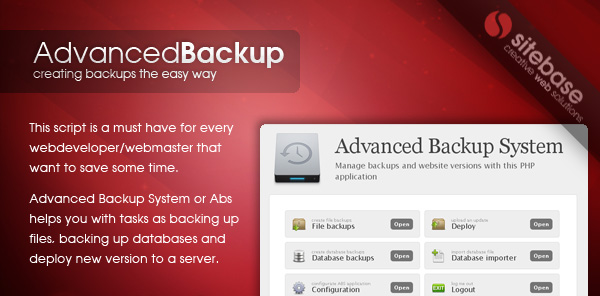 Advanced Backup System