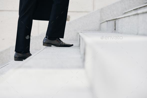 Walking upstairs - Stock Photo - Images