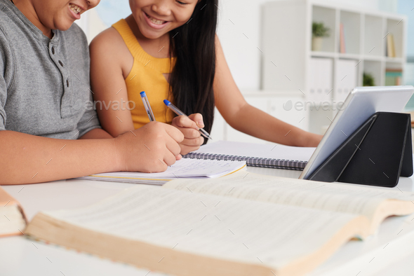 Helping with homework - Stock Photo - Images