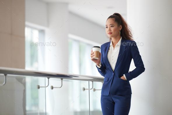 Enjoying fresh coffee - Stock Photo - Images
