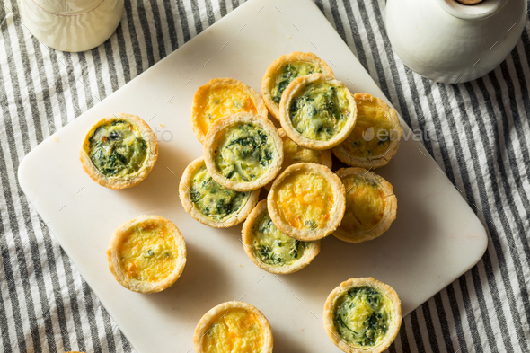 Homemade Mini Egg Quiches - Stock Photo - Images