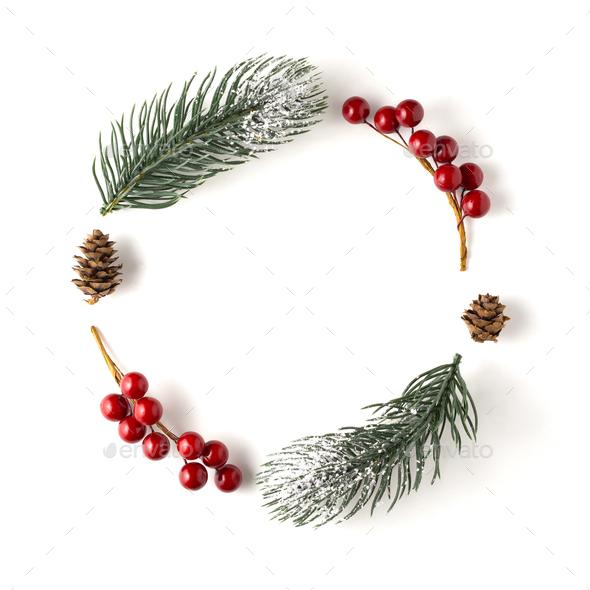 Christmas wreath. - Stock Photo - Images