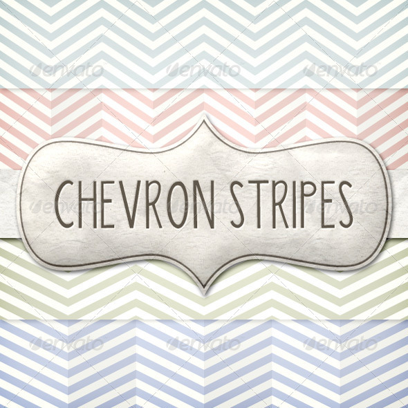 Vintage Chevron Patterns Pack - Backgrounds Decorative