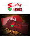 01 juicy ideas logo template preview.  thumbnail